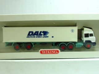Wiking H0 187 Nr 523 01 Iveco 40 ft Container Sattelzug DAL (SZ
