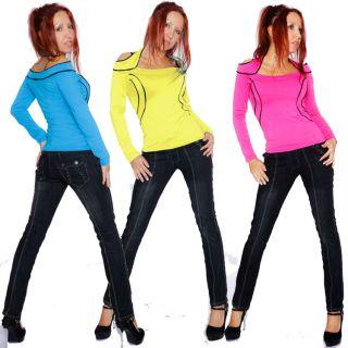 Style Girl Casual sweet Langarm Shirt 5 Farben 34 36