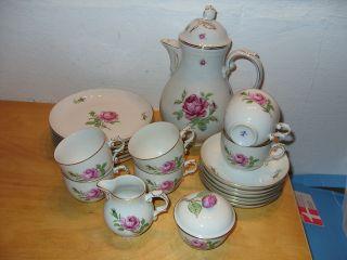 Fürstenberg Rose Kaffeeservice Geschirr Tee Porzellan