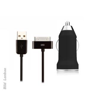 2in1 KFZ Auto USB Adapter Datenkabel Ladekabel Ladegeraet iPod iPhone