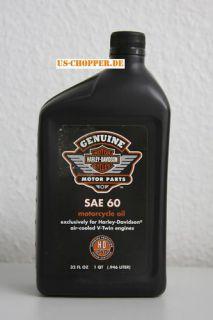 Orig Genuine Harley Davidson Motoröl SAE 60 für V Twin