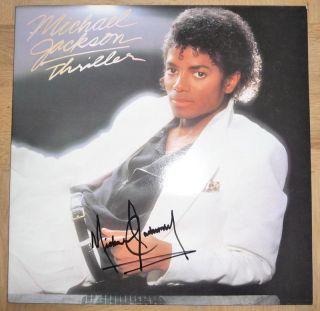 Michael Jackson Thriller LP Autogramm Autograph