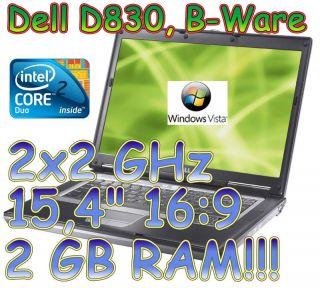 Dell Latitude D830 39,1 cm (15,4 Zoll) 2 GHz, 2 GB RAM, (b01 del d83s