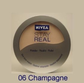 Nivea Stay Real Puder Make Up Beauty Foundation 06 Champagne