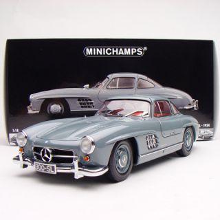 18 Minichamps Mercedes Benz 300SL 1954 Swing wing door Grey