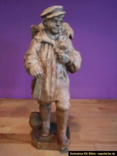 Holzfigur geschnitzte Figur aus Holz 38cm hoch Bauer