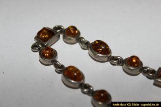 Wunderschönes Seltenes Armband Silber Bernstein Steine 12 Steine 17