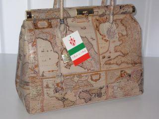 Ital Leder Tasche schlamm Kelly Bag Handtasche XL NEU