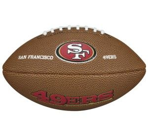 San Francisco 49 ers Wilson Collector Football NFL Football Soft Touch