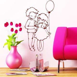 Wandtattoo Junge Blume liebt Ballon Mädchen ab 19,90€ Liebe