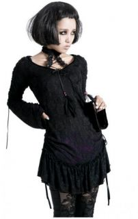 Punk Rave Visual Kei Gothic Punk Bluse Shirt Party schwarz Lila