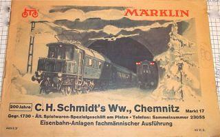 AAN 837 KK37.D 32 Seiten Märklin Katalog 1937 Catalogue