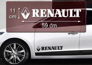 RENAULT Logo 59x11cm Aufkleber Auto Decal Sticker Tuning Accessoires