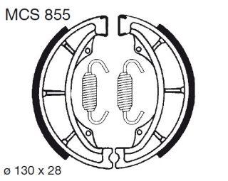 Bremsbeläge O Hyosung GA 125 F MCS855