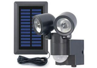 Solar LED Strahler Duo LPL 858, mit Bewegungsmelder 130°, schwarz