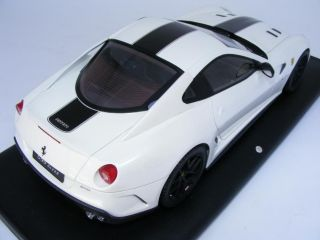 18 MR Ferrari 599 GTO Pearl White / Black lmtd 20 pcs
