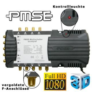 Multischalter 5/8 + Edision Quattro LNB Digitale Sat Anlage 8