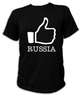 Kult T Shirt   I LIKE Russia   S XXL Party Liebe Russland Russische
