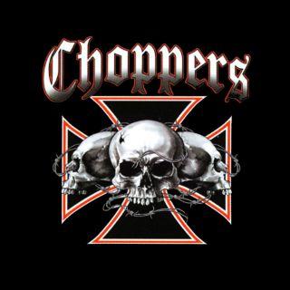 Biker Chopper Skull Gothic T Shirt neu schwarz