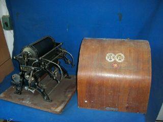 874) uralte Druckmaschine Greif Roto III D.R.P., Handk