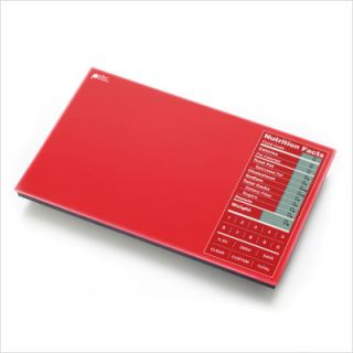 Kitrics Perfect Portions Digital Scale w Nutrition Facts Display Red