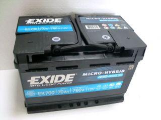 EXIDE AGM 700 Batterie 12V 70Ah 760 A (EN) PKW