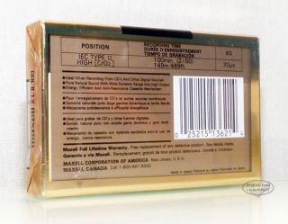 MAXELL XL II 100 aus 1992 USA black magnetite audio Kassetten tapes