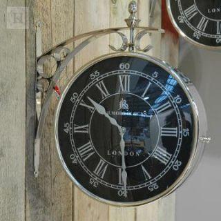 Bahnhofsuhr Wanduhr / Double sided wall clock 42 schwarz