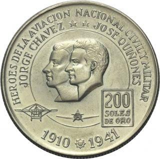200 Sol 1975 Flugzeug Jorge Chavez Jose Quinones Alpen Held Silber 884