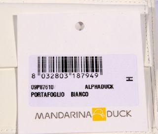 Mandarina Duck Alphaduck 876 Bianco Leder Geldbörse