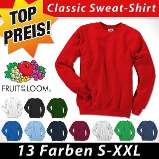 FRUIT OF THE LOOM Premium Sweatshirt S  XXL Pullover Sweat Shirt