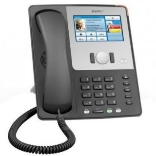 SNOM 870 VOIP Telefon (SIP) Farb Display mit Touchscreen Schwarz