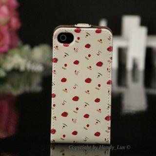 Happymori Leder Case Apple iPhone 4 4S Hülle Cover Klapp Etui Schmuck