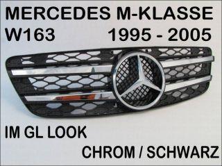 MERCEDES W163 KÜHLERGRILL CHROM SCHWARZ IM GL
