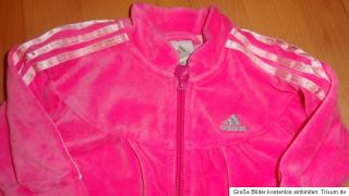 ADIDAS Baby Jogginganzug Adigirl Jacke Hose Gr. 68 wie NEU XXL