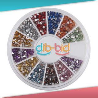 5mm 1800 Nail Art Rhinestone Glitter Tip Mix Gems