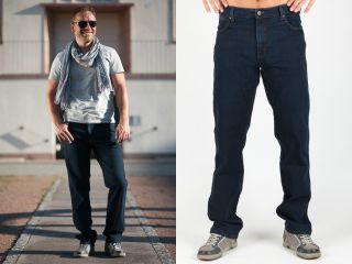 Wrangler Jeans Texas Stretch Blue Black Bundweite 40 48