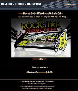HPI Baja 5B   Wing Decal Set   Rockstar  NEW
