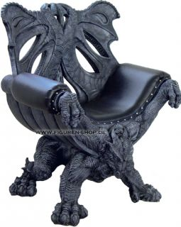 Drachen Thronstuhl   Thron Drache   Dragon Throne Gothic Möbel