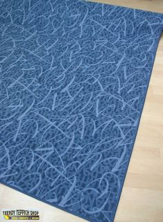 Teppich Läufer Feinschlinge *SCRIPT 893 Denim*