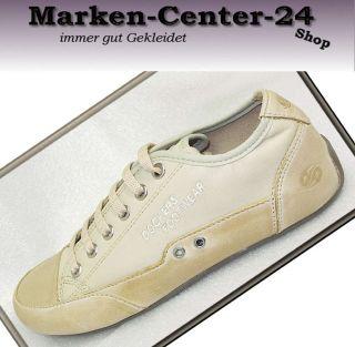 Dockers Sneaker Gr. 36 Leder Damen Mädchen Schuhe beige natur creme