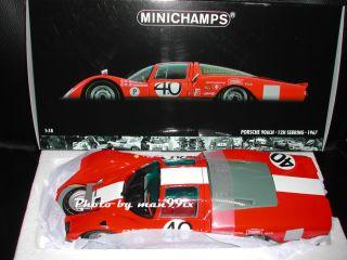 MINICHAMPS Porsche 906 LH 1967 Sebring #40 118 NEU/OVP