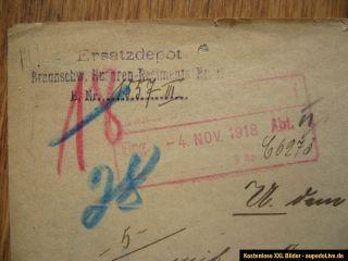 Einschreiben Braunschweiger Husaren Regiment Nr.17, 5.Lothring.Inf.Rgt