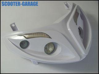 SCHEINWERFER HALOGEN + LED [Weiss] QUATTRO OPTIK   Peugeot Speedfight
