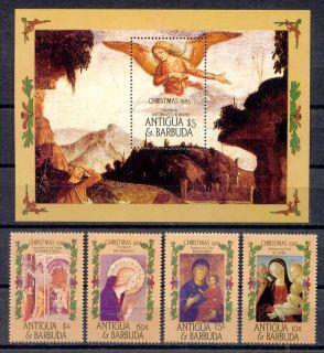 , Weihnachten   Antigua u.Barbuda   915 918, Bl.104 ** 1985