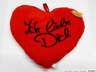 Herzkissen versch. Größen einzeln/Set Ich liebe Dich I love you rot
