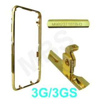 iPhone 3G 3Gs RAHMEN BEZEL Metall Rand Front Ring GOLD
