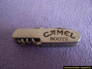 Camel Boots altes Taschenmesser Klappmesser mit Lederhülle !!!