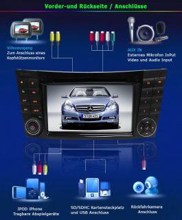 3G INTERNET DVD GPS Bluetooth PIP TV für Mercedes Benz E G Klasse
