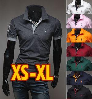 HAPPYMORI] Mens Luxury Casual Formal Slim Fit Collar T Shirt H908